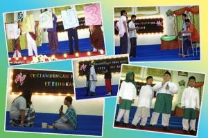 Peserta-peserta peringkat akhir pertandingan Mini Teater
